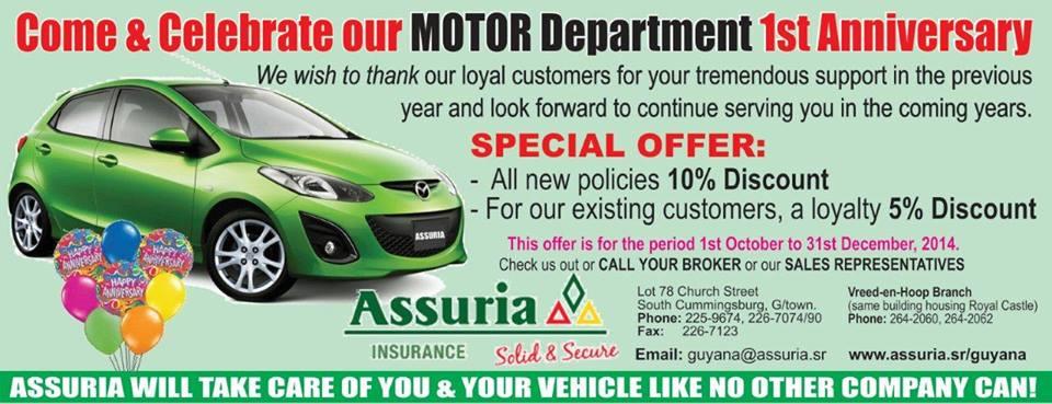 Assuria's Motor Department 1st Anniversary Celebrations